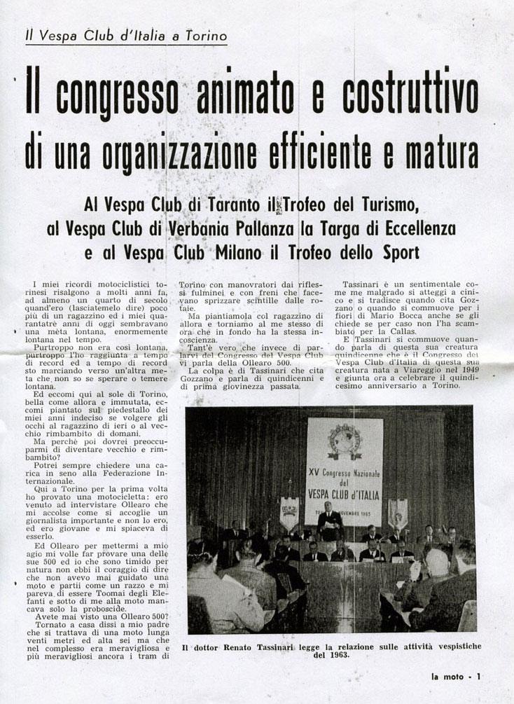 XV congresso VCI a Torino 1963