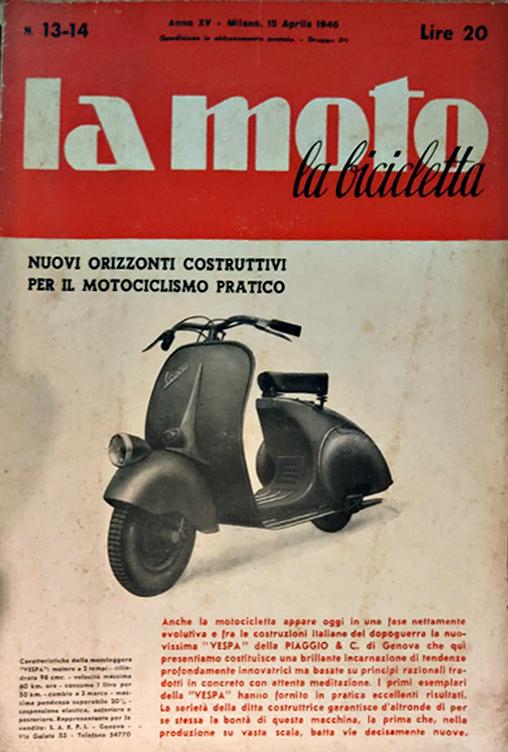 Vespa Club Torino -75 anni Vespa-copertina la moto 1946