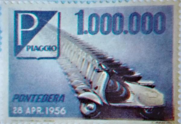 Chiudi lettera celebrativo un milione di Vespa - Vespa Club Torino